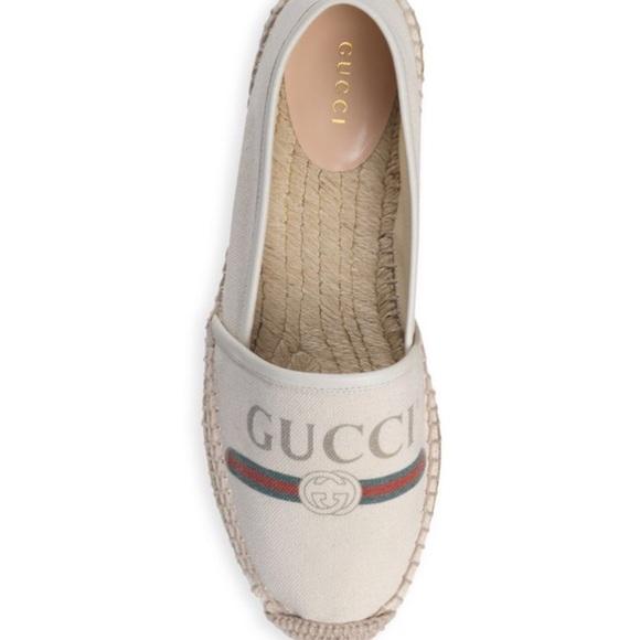 9fe58d3d0d1 Gucci logo Canvas espadrilles NIB  580 12G 42Eu